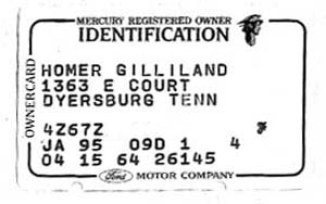 64 marauder owner id card