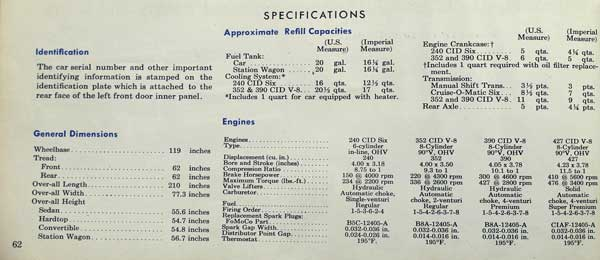 65 galaxie owners manual specs