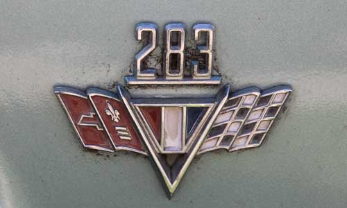 65 chev impala 283 joe 283 badge