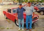 65 mustang bob kentucky with son rob at track