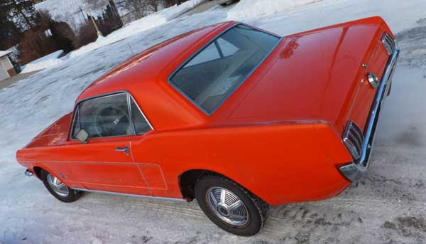 65 Ford Mustang 289 4 spd w kelowna rear
