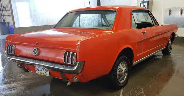 65 Ford Mustang 289 4 spd w kelowna p rear