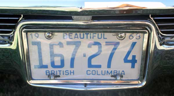68 cadillac coupe deville bruce license plate