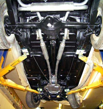 70 ford mustang shelby gt500 scott undercarriage