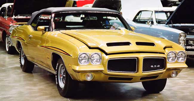 71 gto judge convertible quezal gold 4 spd m robson 2009