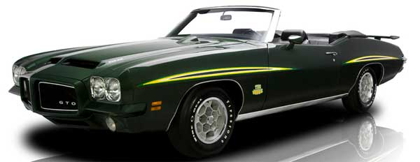 71 Pontiac GTO Judge convertible laurentian green