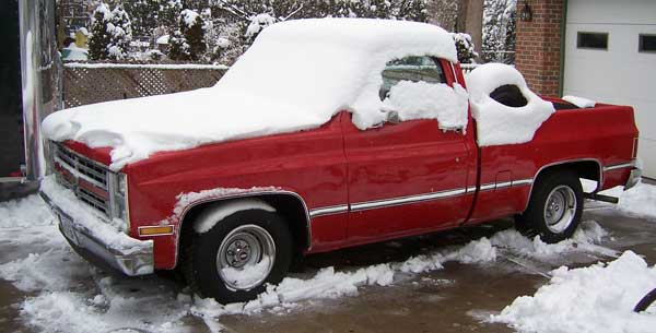 87 chev pickup seymore snow