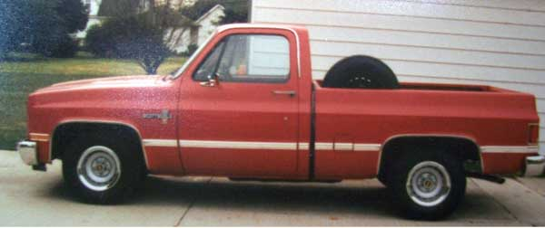 87 chev pickup seymore side
