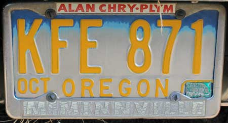dealer alan chry ply mcminnville or license