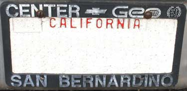 dealer center chev san bernardino ca license frame