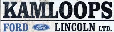 dealer kamloops ford lincoln sticker