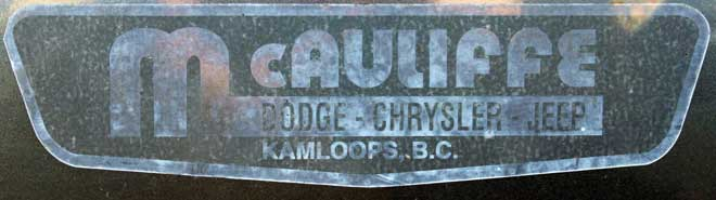 dealer mccauliff dodge kamloops bc logo