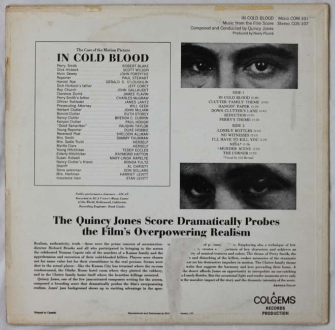 in cold blood rear lp