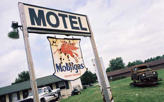 oocc vette trip iowa mobil gas motel white pole road