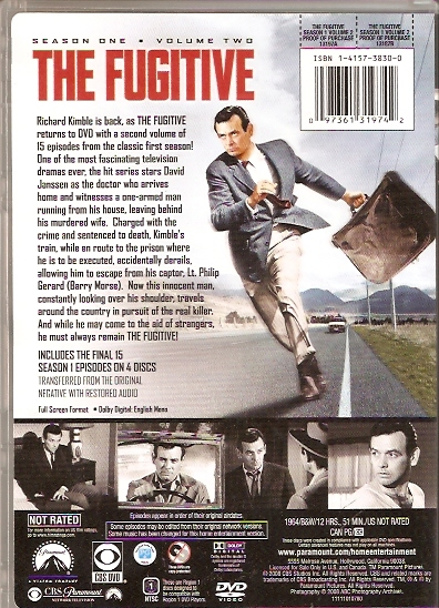 the fugitive dvd s 1 vol 2 back