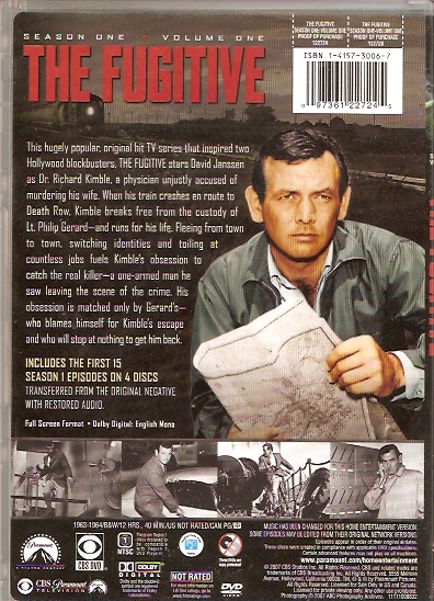 the fugitive dvd season 1 vol 1back