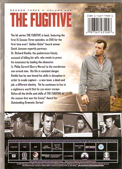 the fugitive dvd season 3 vol 1 back