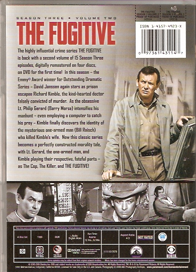 the fugitive dvd season 3 vol 2 back