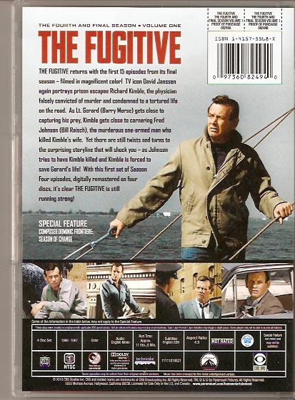 the fugitive season 4 back dvd