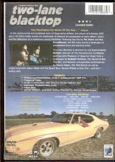 two lane blacktop dvd back